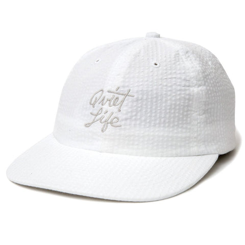 The Quiet Life - Seersucker Polo Hat - White