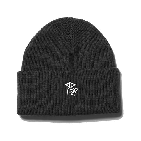 The Quiet Life - Shhh Beanie  - Black