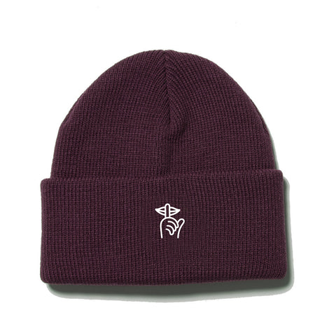 The Quiet Life - Shhh Beanie  - Maroon