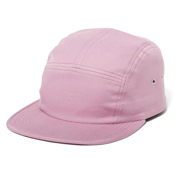 The Quiet Life - Simple 5 Panel Hat - Pink