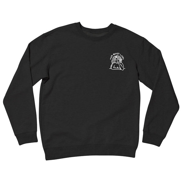 The Quiet Life - Smoking Girl Crewneck - Black