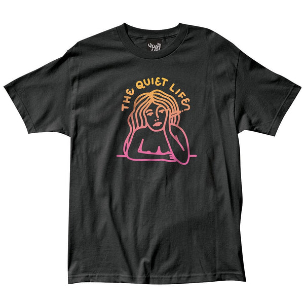 The Quiet Life - Smoking Girl Gradient T-Shirt - Black