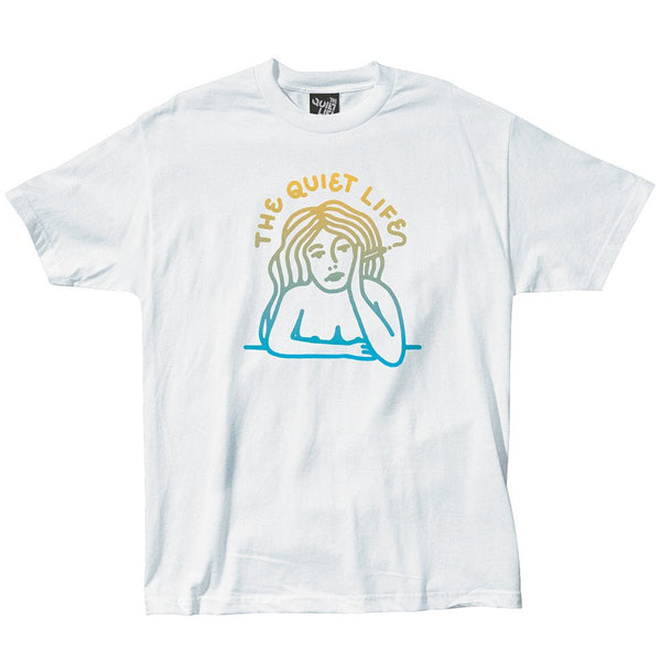 The Quiet Life - Smoking Girl Gradient T-Shirt - White