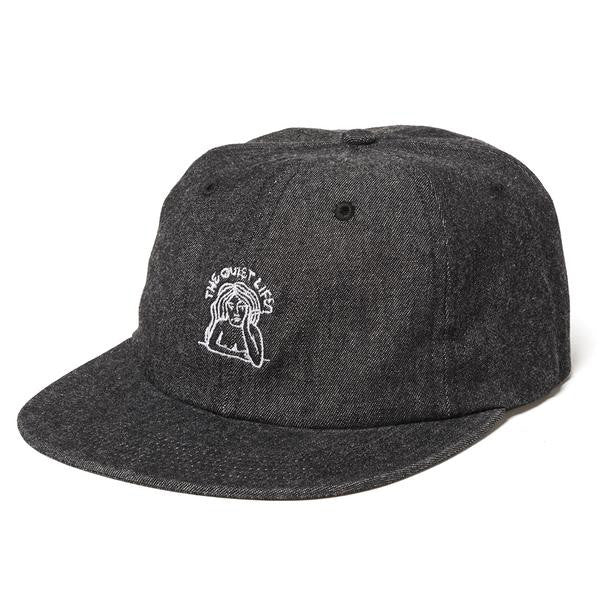 The Quiet Life - Smoking Girl Polo Hat - Black Denim