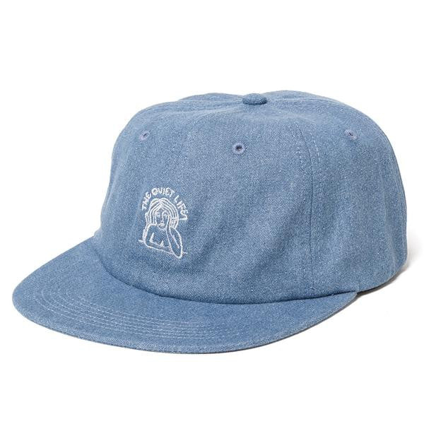 The Quiet Life - Smoking Girl Polo Hat - Light Denim