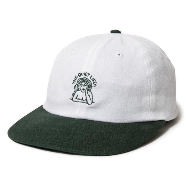 The Quiet Life - Smoking Girl (SP17) Polo Hat - White/Forest