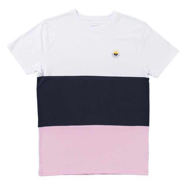 The Quiet Life - Solar Color Blocked T-Shirt - White/Navy/Pink