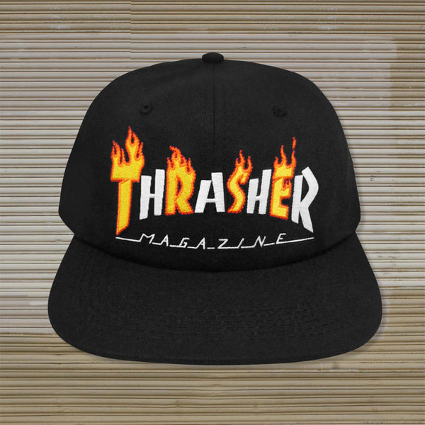 Thrasher - Flame Mag Snapback - Black