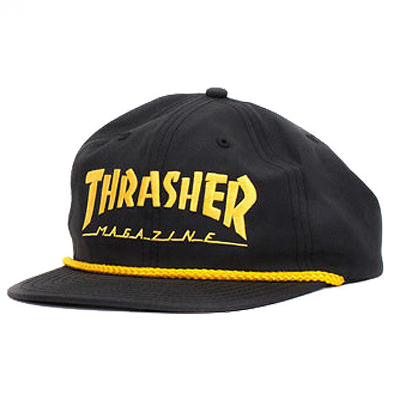 Thrasher - Rope Snapback - Black