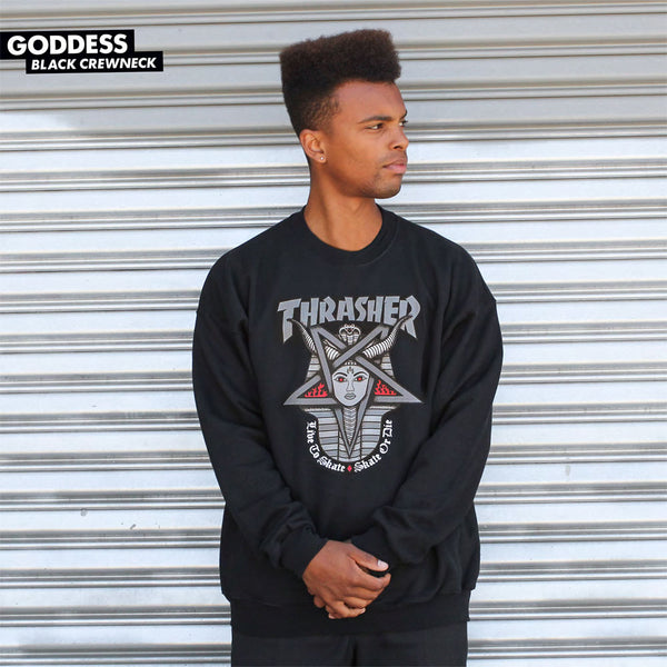Thrasher - Goddess Crewneck Sweater - Black