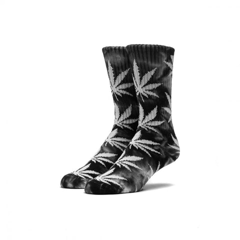 HUF - Tie Dye Plantlife Crew Socks - Black/White