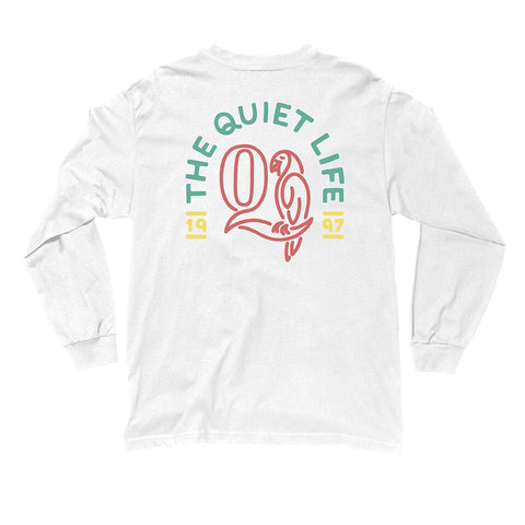 The Quiet Life - Parrot L/S Premium T-Shirt - White