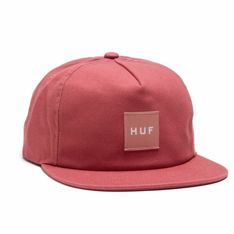HUF - Wash Canvas Box Logo Snapback - Nautical Red