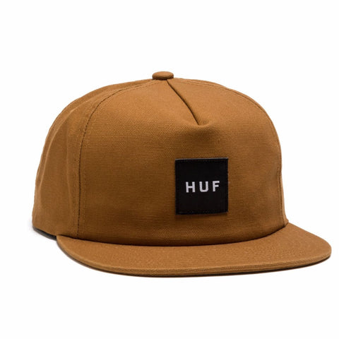 HUF - Wash Canvas Box Logo Snapback - Caramel