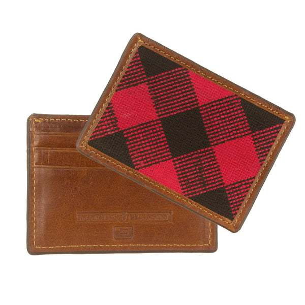Woolrich White Label - S&B Card Wallet - Red Plaid
