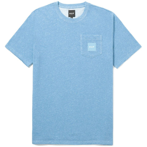 HUF - Woven Label Pocket Tee - Crystal Blue