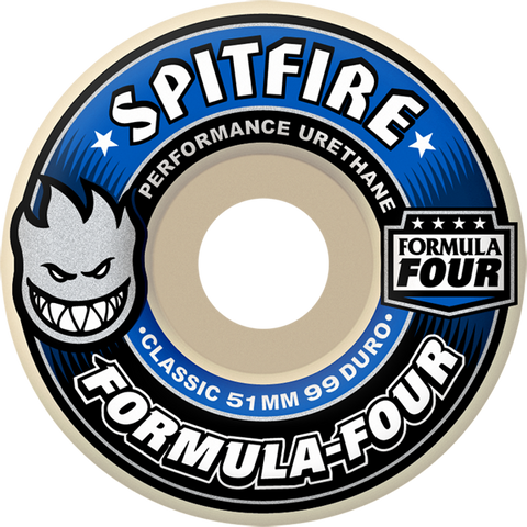Spitfire - Formula 4 99a Classic Assorted Sizes - White/Blue
