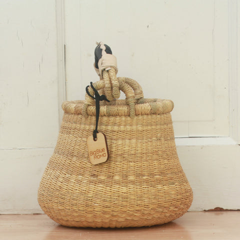 Bread Basket - Blue Checks