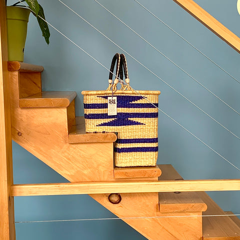 Staircase Basket - Stripes & Diamonds