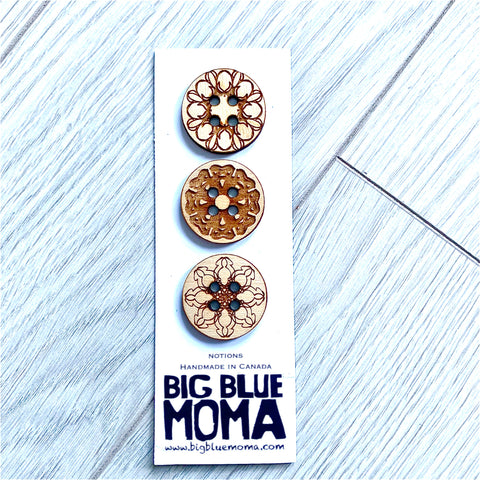 Wooden Buttons - Mandala