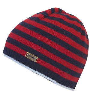 TOGGI ALON PURE WOOL STRIPED BEANIE HAT   - NAVY - FIG - SLATE ... f1119d251a7