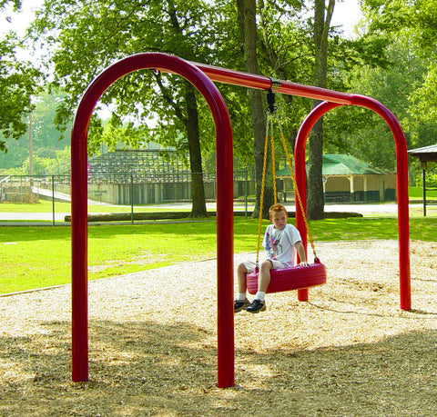 Arched Frame Tire Swing - PlaygroundPark