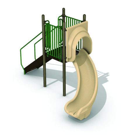 Freestanding 3' Right Turn Slide - PlaygroundPark