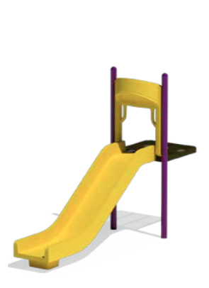 Double Wall Straight Slide - PlaygroundPark