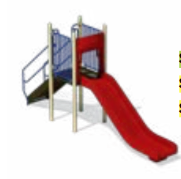 Freestanding Straight Slide - PlaygroundPark