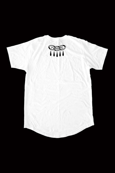 SNAKE mid-long tee by Victor Vaclav - WHITE