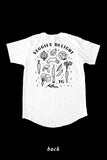 VEGGIES' DELIGHT mid-long tee by Noemie Eclipse - WHITE