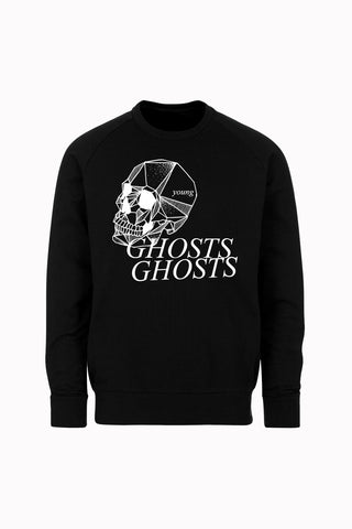 SKULL crewneck sweatshirt by David Brown - BLACK