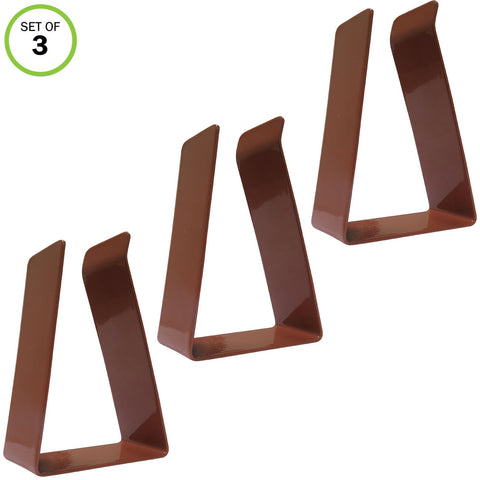 Evelots Metal Replacement Door Clips For Magnetic Door Draft Stopper, Brown- S/3