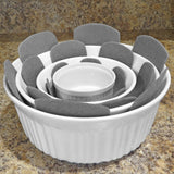 Evelots Pot/Pan Scratch Protect-Dish/Bowl-Soft Felt-Up to 15 Inch-3 Sizes-Set/12
