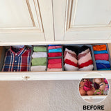 Evelots Foldable Cloth Drawer Storage Box-Closet-Dresser-Divider-Organizer