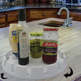 Evelots Turntable/Lazy Susan Tray-Kitchen/Bathroom/Fridge-Centerpiece-13 Inches