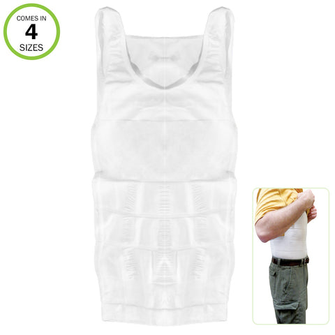 Evelots Men's Slimming Body Shaper Compression Undershirt Elastic Slim Fast