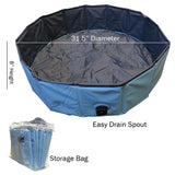Evelots Swimming Pool/Tub-Ideal for Dogs/Toddlers-Collapsible-Easy Storage-Drain
