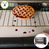 Evelots Stove-Toaster Oven Rack Liners-Washable-Fiberglass-400 Degrees