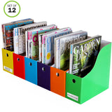 Evelots Magazine File Holder- Organizer- Full 4 Inch Wide- With Labels