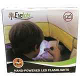 Evelots Hand Crank Flashlight-Camping-Home-Car-No Battery-LED Bright Light