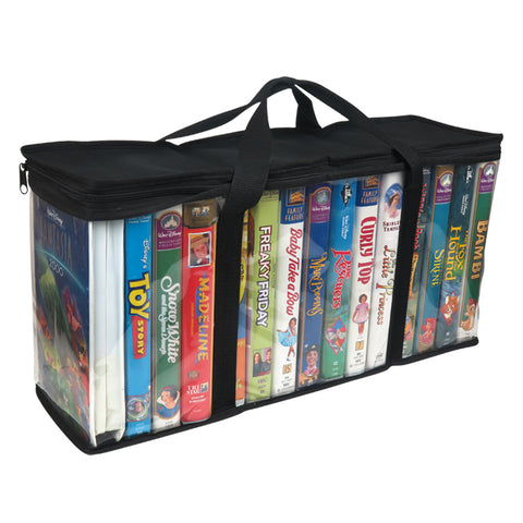 Evelots VHS Storage Bag-Movie Organizer-Video Tape-Handles- Holds 15/Bag-No Dust