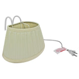 Evelots Headboard Lamp, Over The Bed Reading Light with Shade