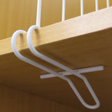 Evelots Closet Wood shelf Divider-New Extra Brackets for Stability-Steel