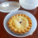 Evelots Pie Keeper-Carry-Stay Fresh-Hinged Lid-Cookie,Donut-Fridge/Freezer
