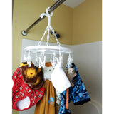 Evelots Clip And Drip Clothes/Laundry Drying Hanger With 16 Clips Total