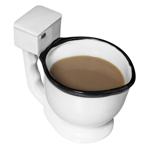 Evelots Toilet Coffee Mug/Cup-Ceramic-Tea/Beverage/Candies-10 Ounces-Hilarious