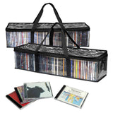 Evelots New&Improved CD Sturdy Storage Bags Carrying Handles- 48 CD's per bag