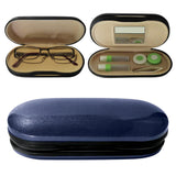 Evelots Contact Lens Case-Double Sided-Mirror-Rigid Out/Soft In-Travel-3 Colors