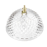 Evelots Ceiling Clip-on Light Bulb Shade-Lamp-Dome-Antique-Diamond Cut-Acrylic